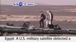 VOA60 World PM - US Satellite Detects Flash At Time of Russian Plane Disaster