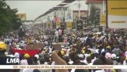 Manifestations de soutien à Alpha Condé à Conakry
