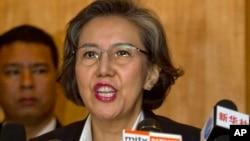 Bà Yanghee Lee, đặc sứ về nhân quyền của LHQ ở Miến Điện, nói tự do phát biểu, hội họp, đã bị kiềm chế ở trong nước.