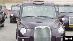 Bakıda London taxi