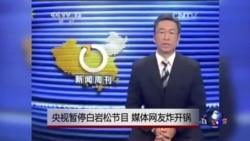 时事大家谈:央视暂停白岩松节目,媒体网友炸开锅