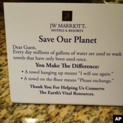 You'll find messages like this on the nightstand of thousands of U.S. hotels.