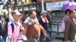 ادامه اعتراضات خيابانی در تايلند