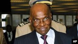Senegal President Abdoulaye Wade.