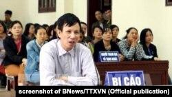 Nhà hoạt động Nguyễn Văn Túc bị xét xử hôm 10/4/2018.