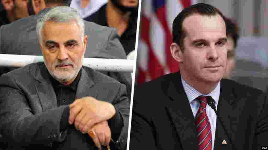 ایالات متحد رسما ادعای برخی سایت های ایران درباره دیدار «برت مکگورک» فرستاده ویژه آمریکا با قاسم سلیمانی را در رابطه با تشکیل دولت جدید عراق از اساس تکذیب کرد.