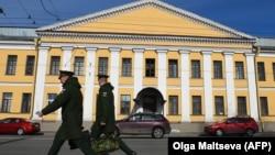L'académie militaire Mozhaisky à Saint-Pétersbourg le 2 avril 2019.