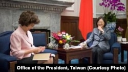 Trump's Transportation secretary Elaine Chao met with Taiwan President Tsai Ingwen in October.