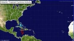 توفان دریایی به هائیتی حمله می کند