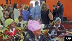 Các nạn nhân bị hãm hiếp được học nghề tại Goma, Cộng hòa Dân chủ Congo, 4/3/2011