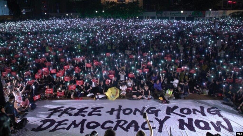 Cuộc biểu tình của người Hong Kong hôm 26/6.