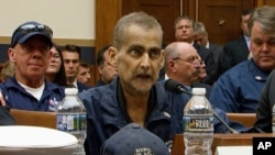 FILE - In this June 11, 2019, file image made from video, retired New York Police Detective and 9/11 responder, Luis Alvarez, speaks during a hearing by the House Judiciary Committee as it considers permanent authorization of the Victim Compensation. Alvarez died in 2019.