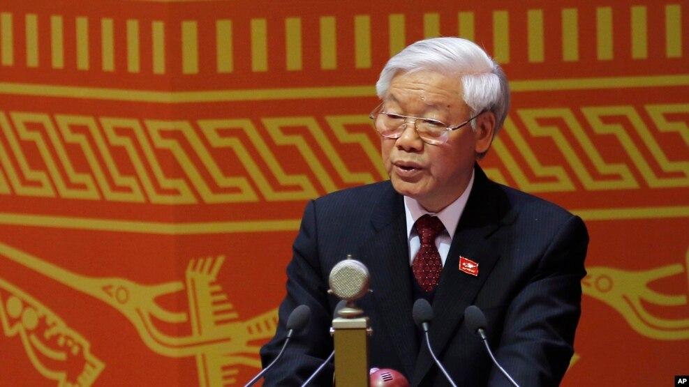 Tổng Bí thư Nguyễn Phú Trọng phát biểu trong lễ khai mạc Đại hội Đảng Cộng sản Việt Nam XII, 21/1/2016.