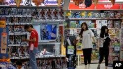美中貿易戰下中國的零售店。