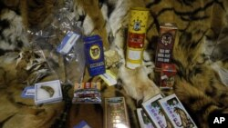 Illegally trafficked animal products are displayed in a warehouse at the National Wildlife Property Repository in US. (File)