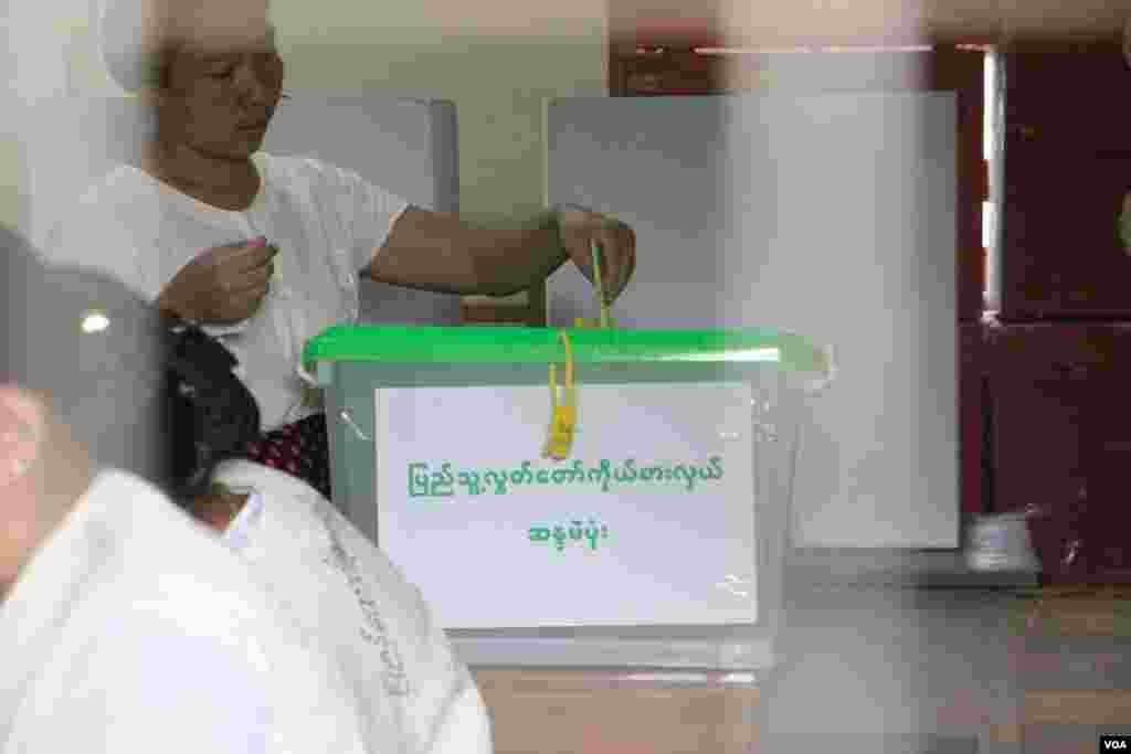 Myanmar election snapshot by VOA's Burmese Service (Photo - Thar Nyunt Oo/VOA)
