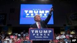 Ứng cử viên Tổng thống Đảng Cộng hòa Donald Trump trong một buổi mít tinh tại Ohio, ngày 27 tháng 7 năm 2016.