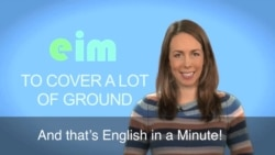 English in a Minute: Cover a Lot of Ground
