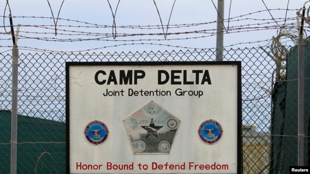 The exterior of Camp Delta is seen at the U.S. Naval Base at Guantanamo Bay, March 6, 2013.