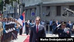 Predsednik Srbije Aleksandar Vučić na Andrićevom vencu