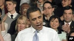 President Barack Obama speaking in Ohio