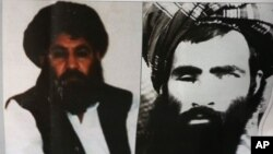 曼苏尔2015年新任阿富汗塔利班首领时媒体发布的照片