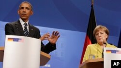 Shugaba Obama na Amurka da shugabar kasar Jamus Angela Merkel