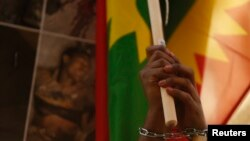 Manifestations des Oromo de Malte contre le gouvernement éthiopien, le 21 décembre 2015. (REUTERS/Darrin Zammit Lupi)