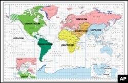 美国联合作战司令部责任区分布