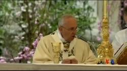 2015-04-05 美國之音視頻新聞:教宗方濟各主持慶祝復活節彌撒