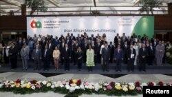 지난 15일 인도네시아 자카르타에서 아시아-아프리카 정상회의를 앞두고 장관급 회의가 열렸다. (자료사진)