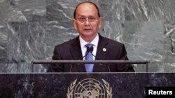 Tổng thống Miến Điện Thein Sein phát biểu tại phiên họp Đại hội đồng Liên hiệp quốc, 27/9/12