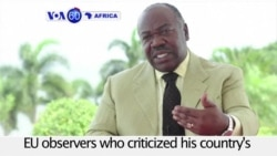 VOA60 Africa - Gabon's President Accuses Challenger of Fraud, Power Grab