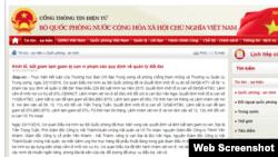 Trang web Bộ Quốc phòng Việt Nam.