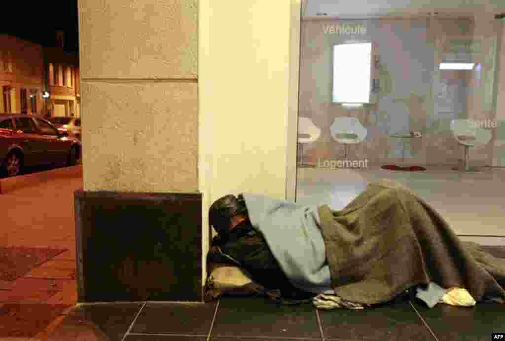 Бездомный житель французского города Камбре