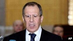 2月7号,俄罗斯外长拉夫罗夫在大马士革和叙利亚总统阿萨德会谈后,召开记者会