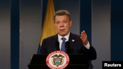 Kolumbijski predsednik Huam Manuel Santos (REUTERS/John Vizcaino)
