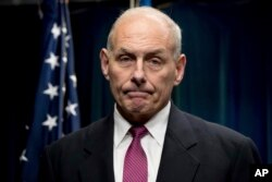 FILE - Homeland Security Secretary John Kelly said this week that more than 75 percent of the more than 680 individuals arrested last week were criminal aliens, suggesting that 25 percent were not, a break from policy under former President Barack Obama.
