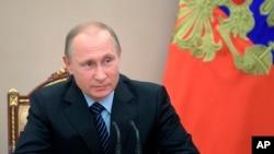 俄罗斯总统普京在莫斯科举办的一次安全会议上。(2017年6月16日)