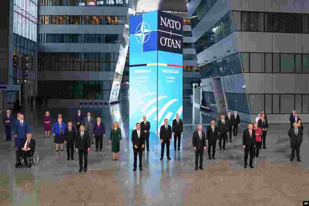Prezident Bayden və NATO liderləri