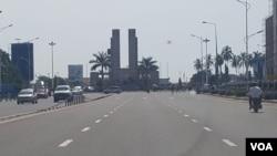 """Kinshasa lors d'une journée """"ville morte"""", en RDC, le 3 avril 2017. (VOA)"""