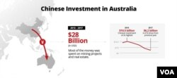 Chinese investment in Australia 2016 - 2017.