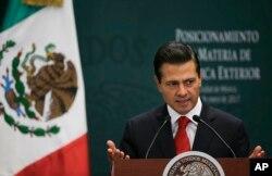 엔리케 페냐 니에토 멕시코 대통령 (자료사진)