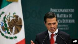 Prezidan meksiken an, Enrique Pena Nieto, ki gen pou rankontre ak Prezidan Trump anvan lontan.