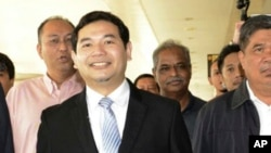 FILE - Rafizi Ramli of the People's Justice Party arrives at court in Kuala Lumpur, Malaysia, Nov. 14, 2016.