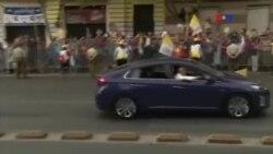 Protestos recebem Papa no Chile
