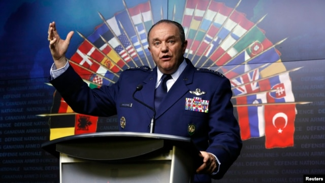 FILE - NATO Supreme Allied Commander Europe, U.S. General Philip Breedlove, speaks during a news conference in Ottawa, Canada, May 6, 2014.