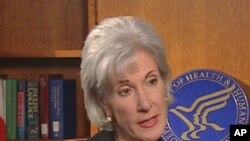 US Health and Human Services Secretary Kathleen Sebelius (file photo)