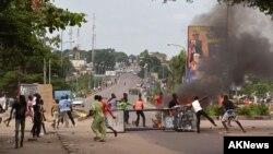 Une manifestation contre la modification de la loi électorale à Kinshasa, RDC, 19 janvier 2015.
