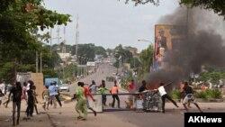 Une manifestation à Kinshasa contre une tentative de modification de la loi électorale le 19 janvier 2015
